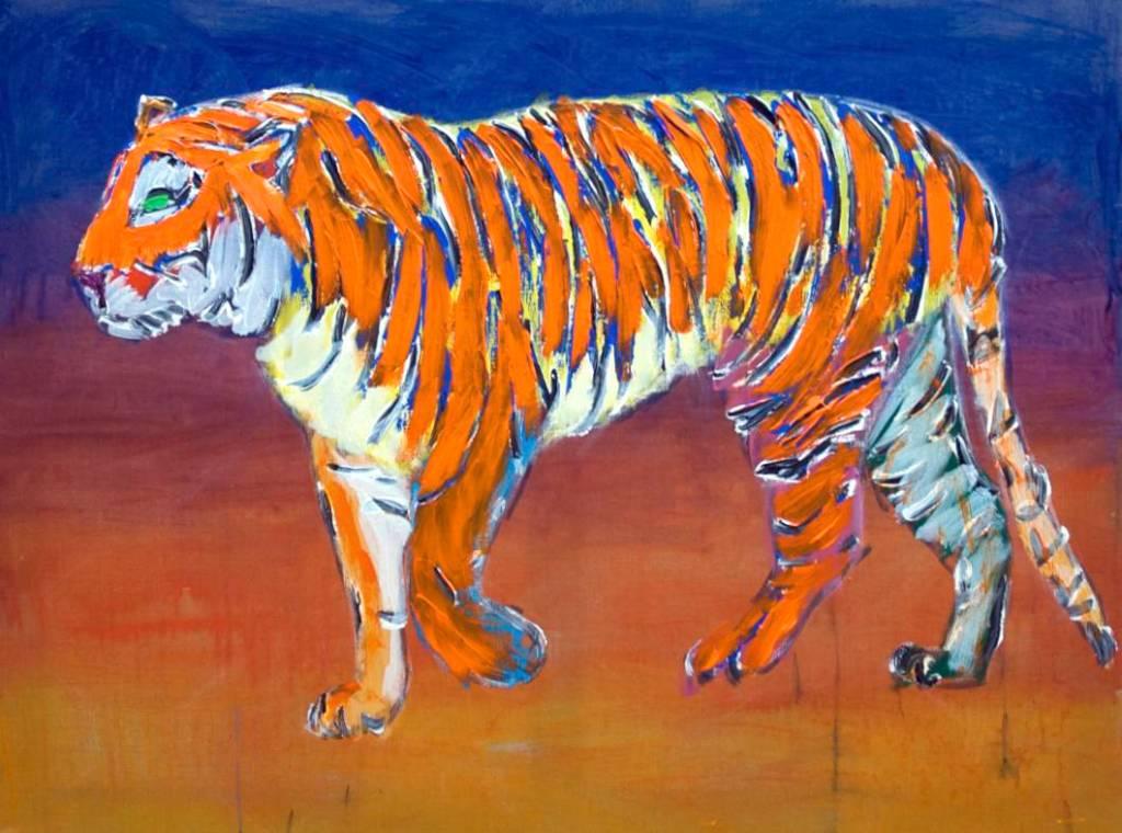 09. Den gående tiger. 130 x 97 cm. 2010